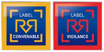 Mini label Convenable et label Vigilance Carre Expert Auto